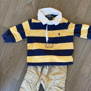 Boys polo shirts, size 9 months